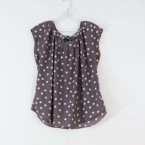 LC Lauren Conrad polka dot sheer blouse